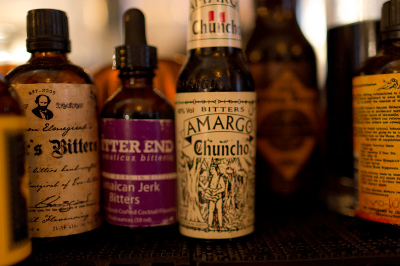Various cocktail tinctures at Weather Up