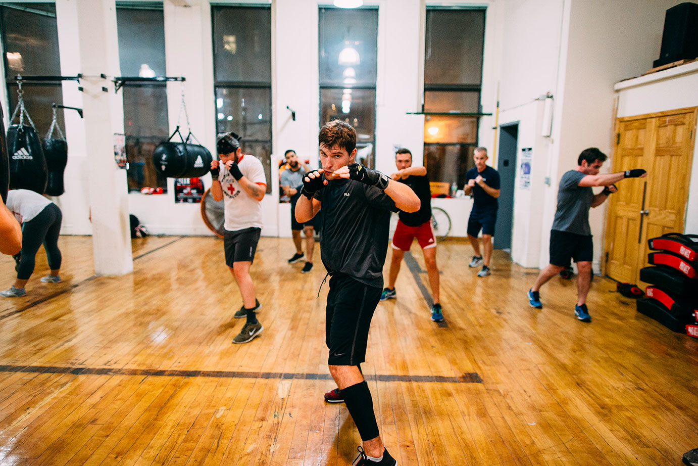 A class in session at Church Street Boxing Studio